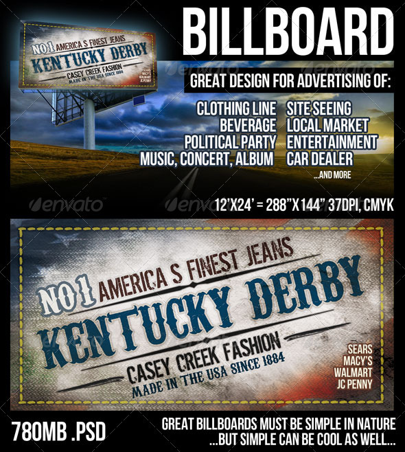 Billboard Design in Large 12'x24' Size - Signage Print Templates