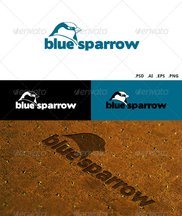 Blue Sparrow Logo - Animals Logo Templates