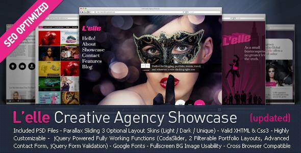 ThemeForest L elle Creative Agency Showcase 2278454