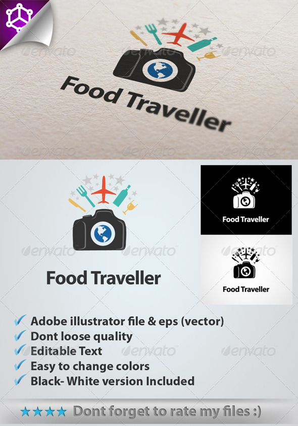 Logo 4 Food Traveller - Food Logo Templates