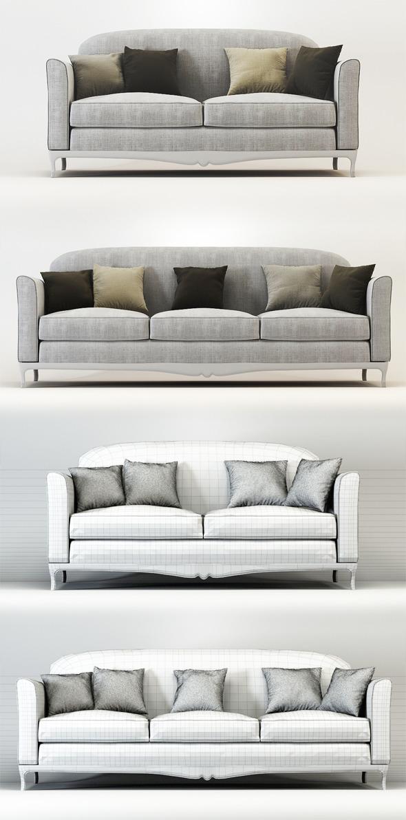 Quality 3dmodel of sofa Dorian Veneta Sedie