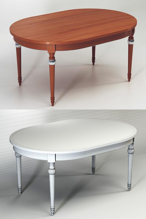 Quality 3dmodel of table Miu. Veneta Sedie - 3DOcean Item for Sale