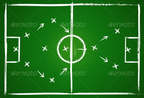 Football teamwork strategy - Abstract Conceptual