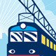 Electric Passenger Train Railroad Retro - GraphicRiver Item for Sale