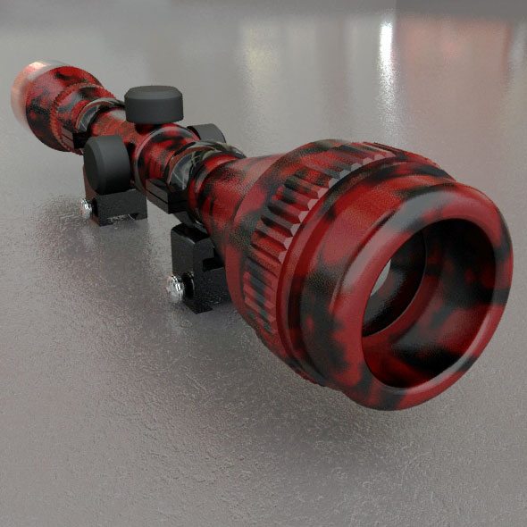 3DOcean Red Tiger Sniper Scope 88111
