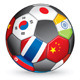 Asian soccer ball - GraphicRiver Item for Sale