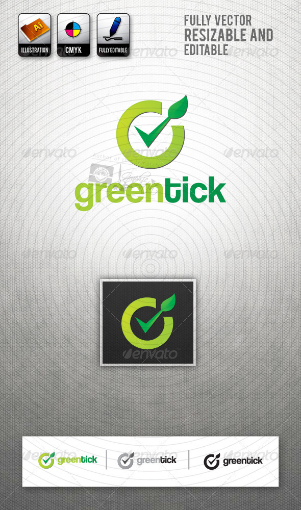 GreenTick Logo Template - Symbols Logo Templates
