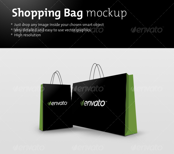 GraphicRiver Shopping bag mockup 88320