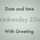 Date and Time with Greeting - ActiveDen Item for Sale