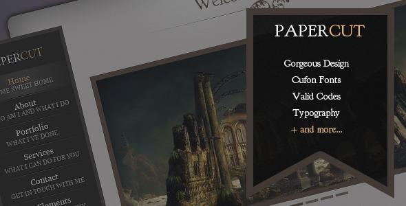 Papercut - One Page Portfolio Template - Portfolio Creative