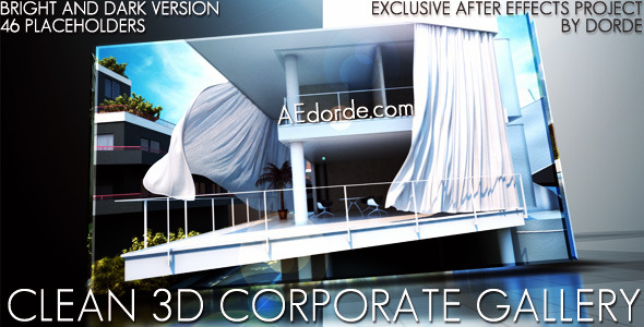 After Effects Project - VideoHive Clean 3D Corporate Gallery 2381121