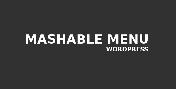 CodeCanyon Mashable Menu for Wordpress 2382322