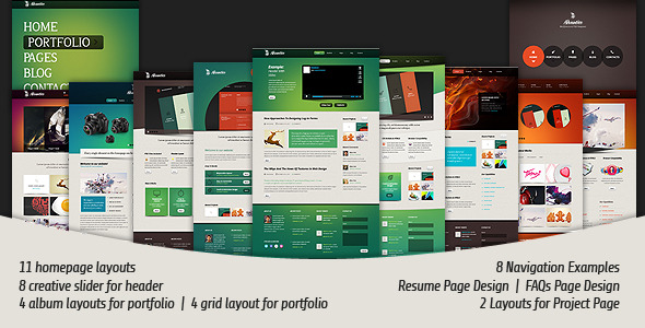 Advantico - Multifuntional PSD Template