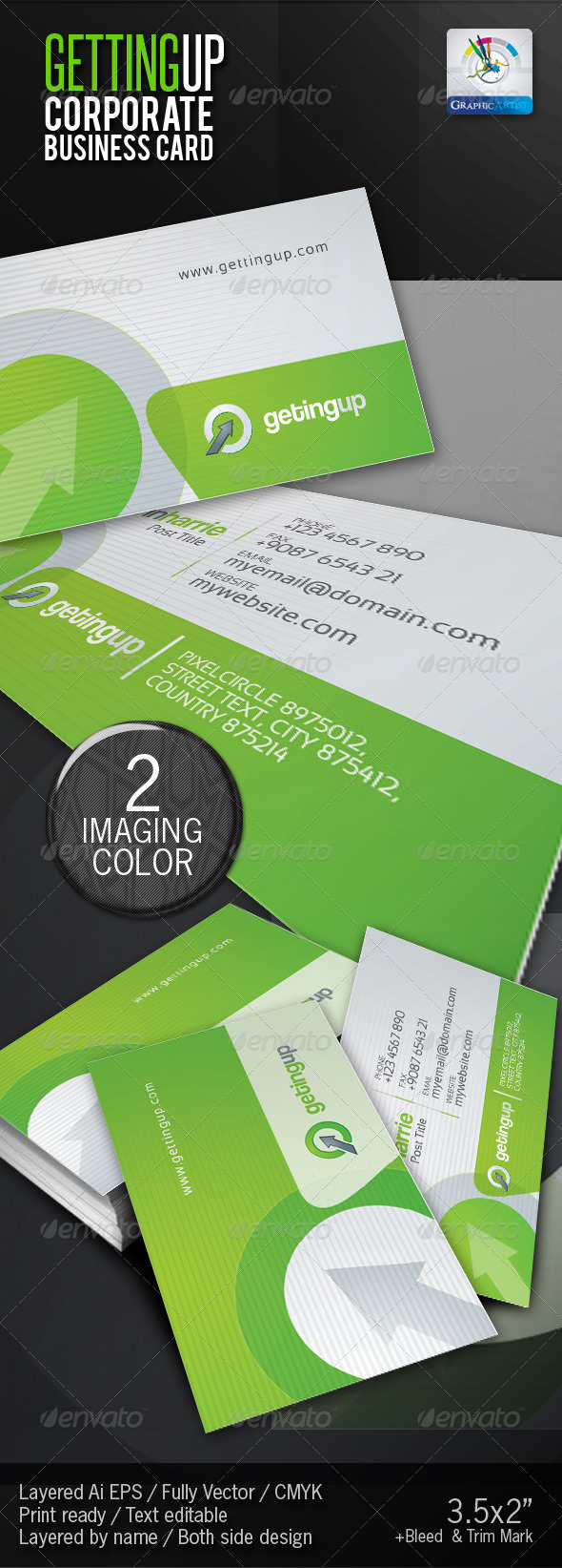 GettingUp Corporate Business Card - Corporate Business Cards