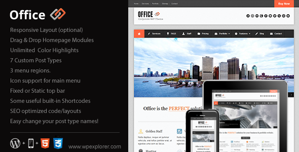 ThemeForest Office Responsive Business Theme 1718861