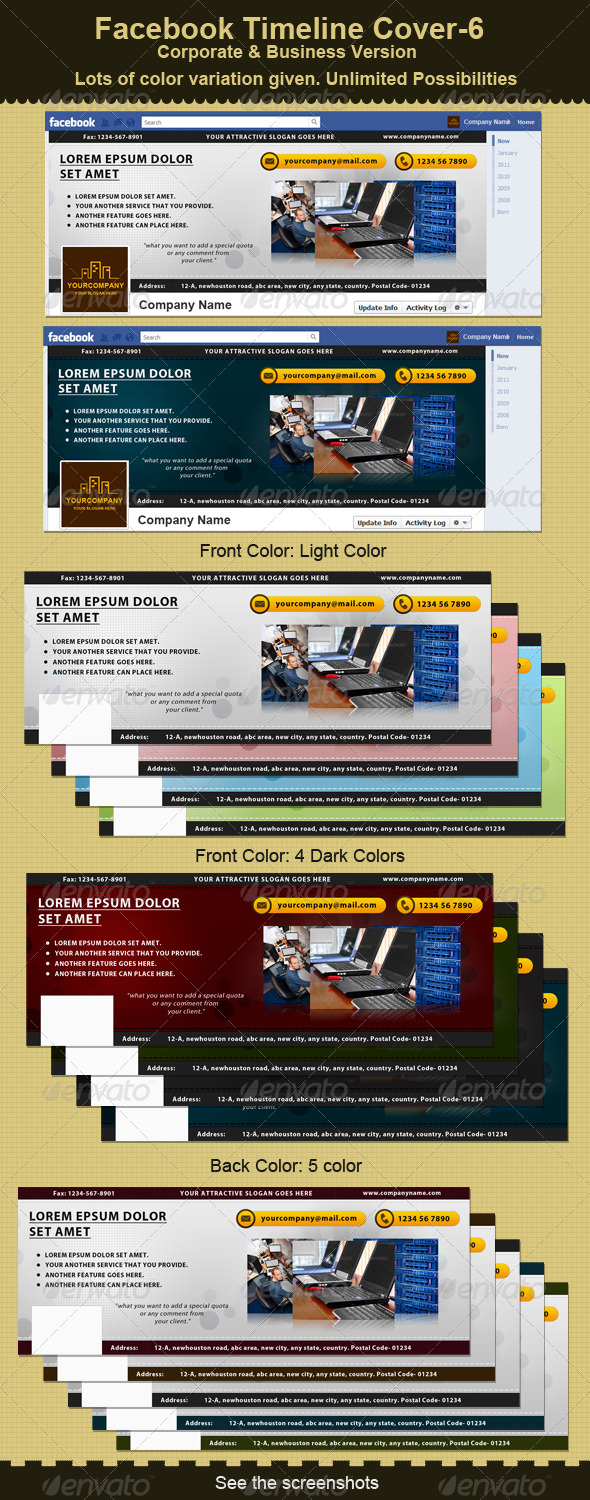 GraphicRiver Facebook Timeline Cover-6- Business 2397798