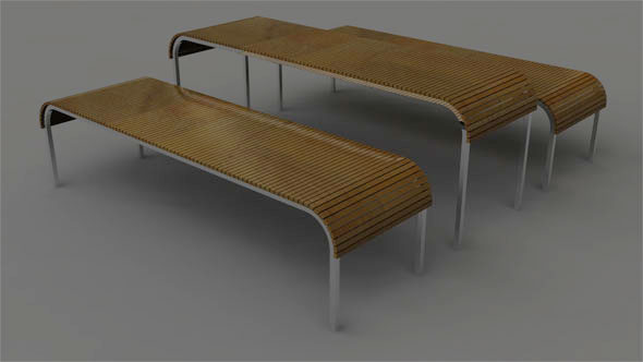 Table and Benches - 3DOcean Item for Sale