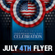 July 4th Patriotic USA Flyer - GraphicRiver Item for Sale