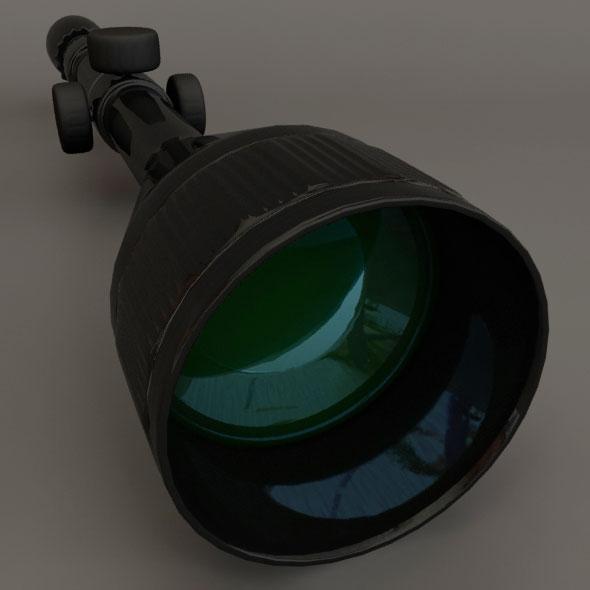 3DOcean Sniper Scope 87654