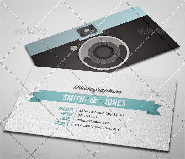 GraphicRiver Sleek Illustrated Photography Business Card 2398103