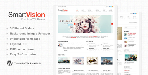 SmartVision - Premium Corporate&Portfolio WP Theme - Business Corporate
