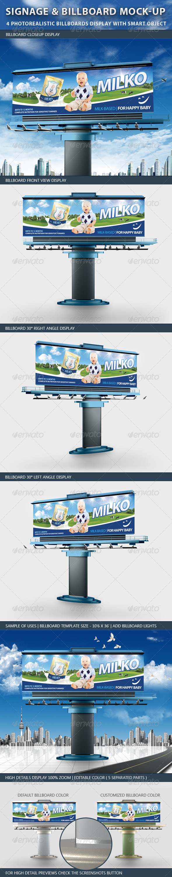 Signage and Billboard Mockup - Signage Print