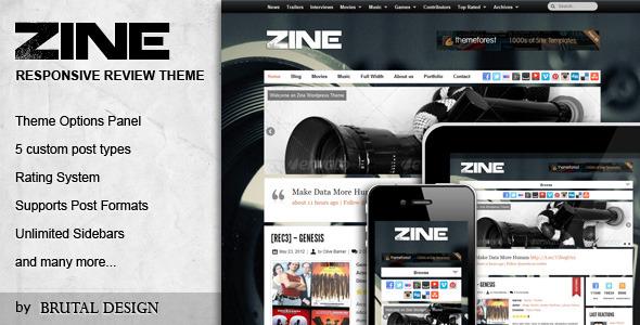 Zine - Modern & Responsive Review Theme