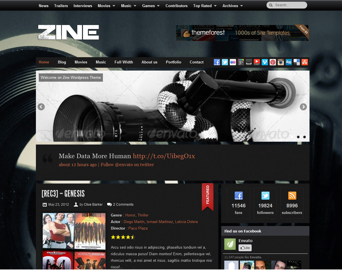Zine - Modern & Responsive Review Theme