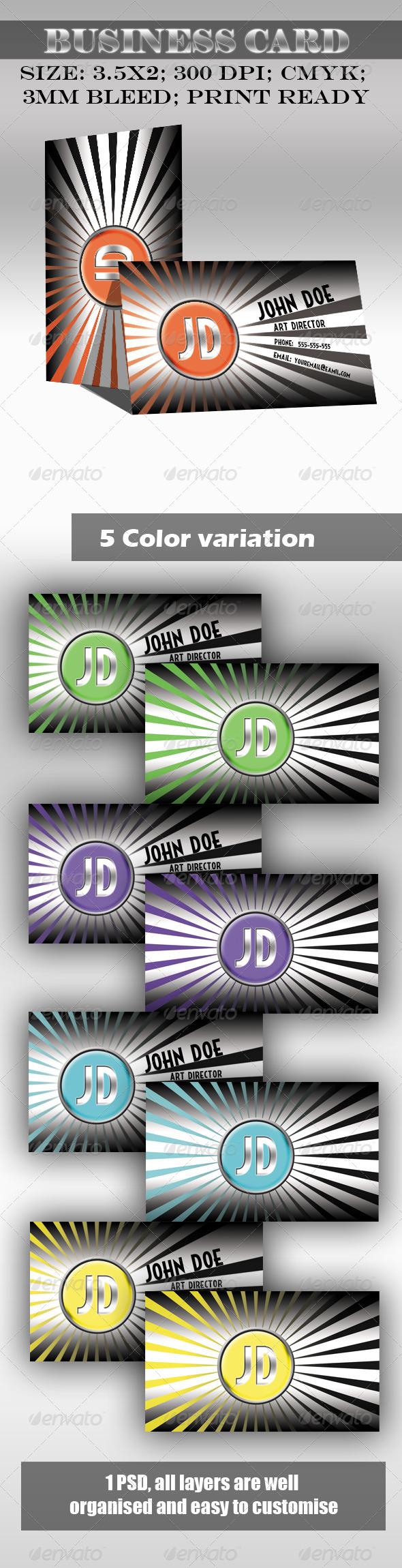 Sunburst Business Card - Creative Business Cards