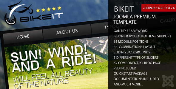 BikeIT - Premium Joomla Template - Travel Retail