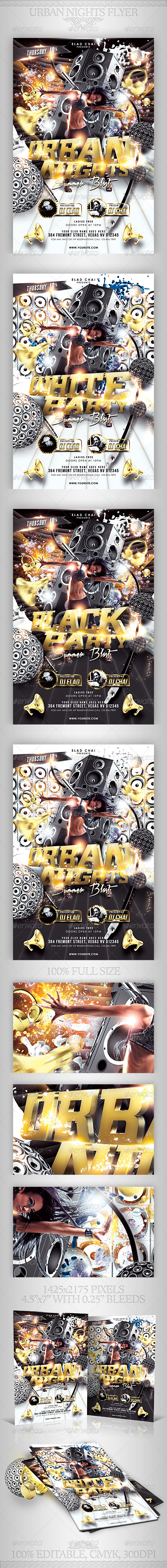 Urban Nights Flyer Template - Clubs & Parties Events