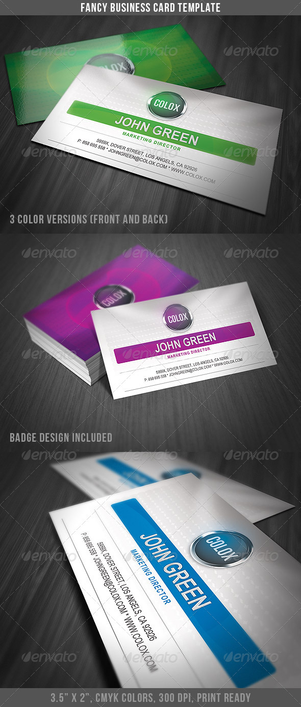Fancy Business Card Template