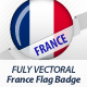 French Flag Badge - GraphicRiver Item for Sale