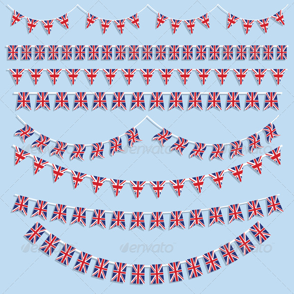 GraphicRiver Union Jack flags and bunting 2401243