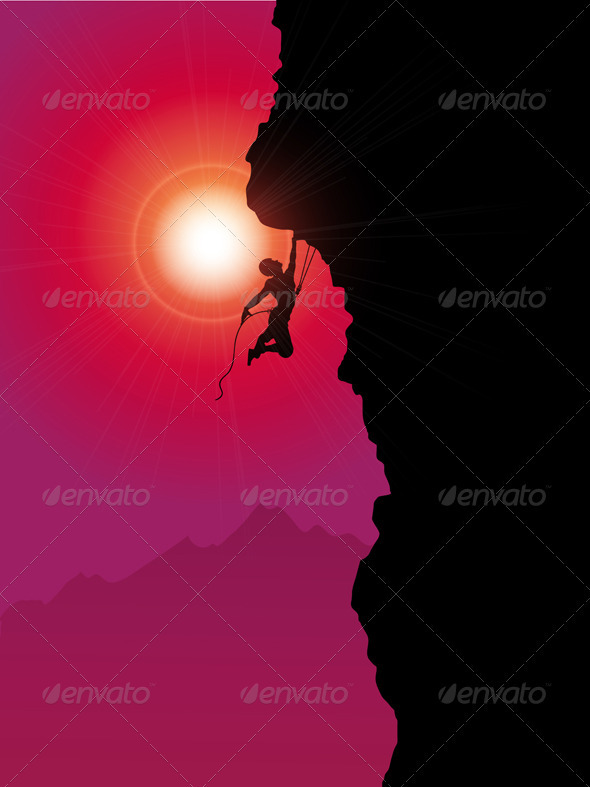GraphicRiver Extreme rock climber 2401344