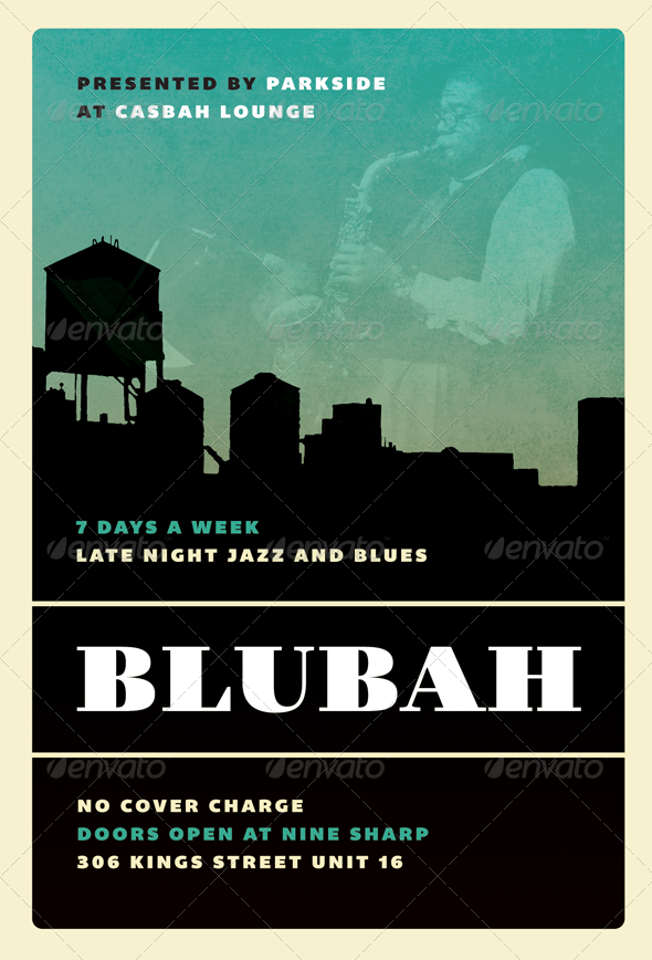 GraphicRiver Blubah Jazz Blues and Swing Flyer Template 2401752