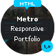 Metro – Responsive Portfolio HTML Theme  Free Download