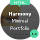 Harmony - Minimal Portfolio HTML Theme - ThemeForest Item for Sale
