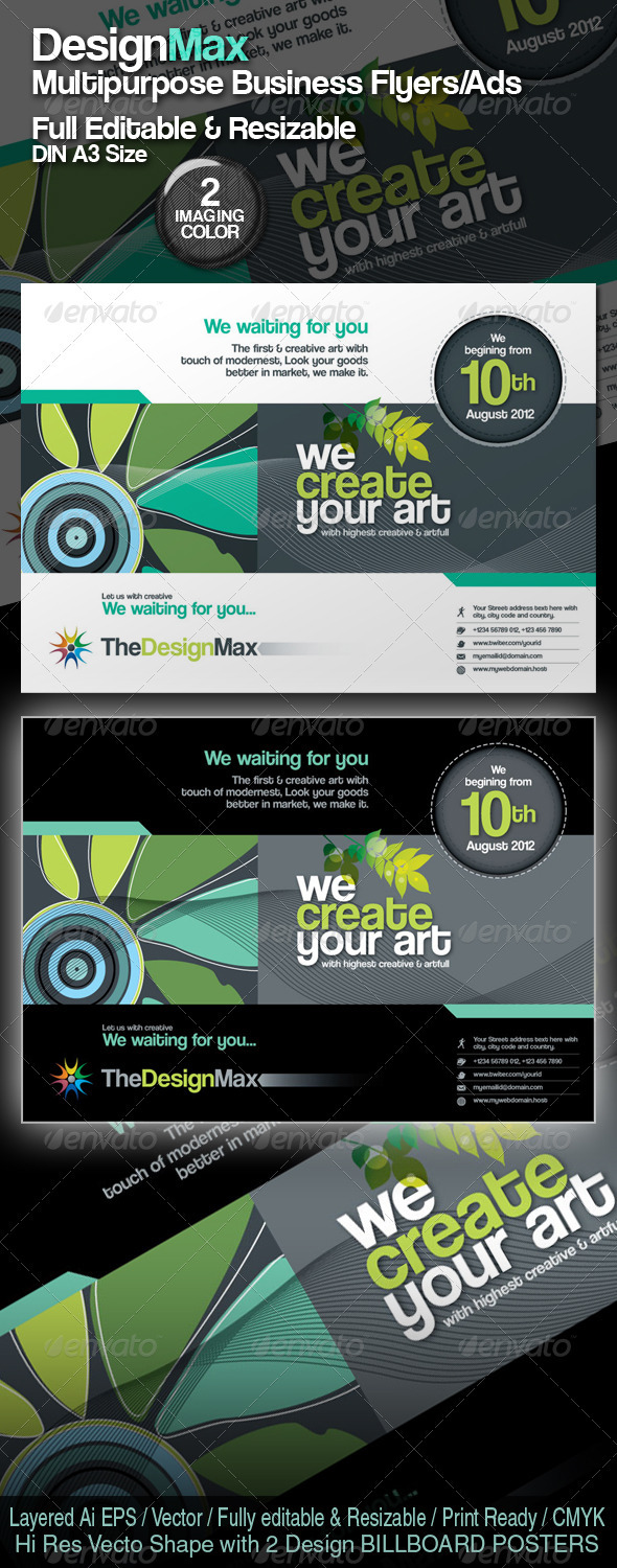 DesignMax Resizable Business Flyer/Poster/Ads - Corporate Flyers