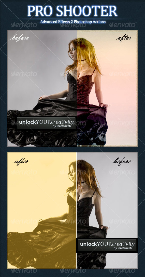 Graphic River Pro Shooter Photoshop Photo Actions Add-ons -  Photoshop  Actions  Photo Effects 88525