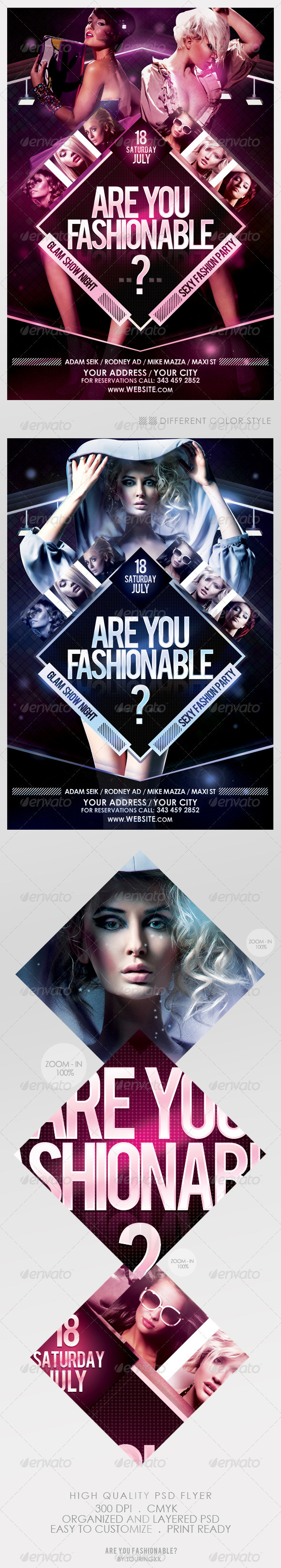 Are You Fashionable? Flyer Template - Flyers Print Templates