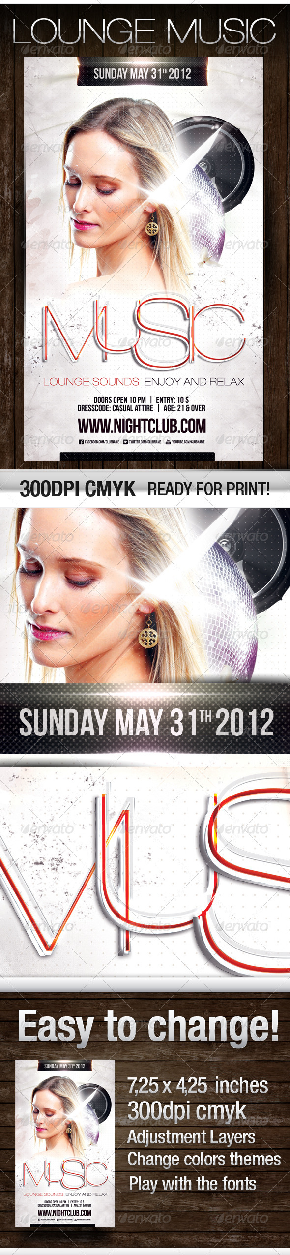 Lounge Music Flyer - Flyers Print Templates