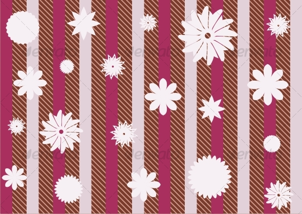 Striped floral wallpapers - Backgrounds Decorative