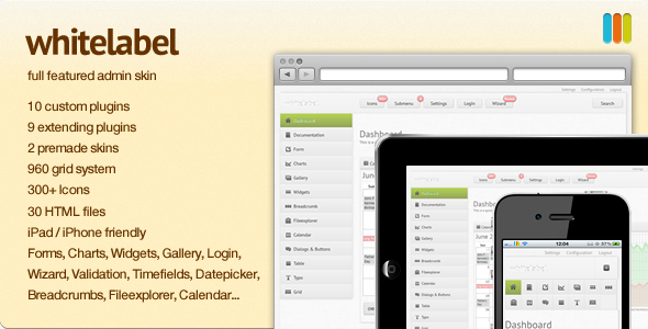 White Label - full featured Admin Skin professional website template