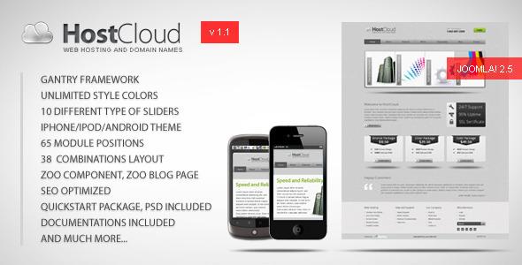 ThemeForest HostCloud Premium Joomla Template 2364240
