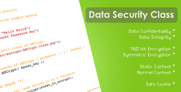 CodeCanyon Data Security Class 88622
