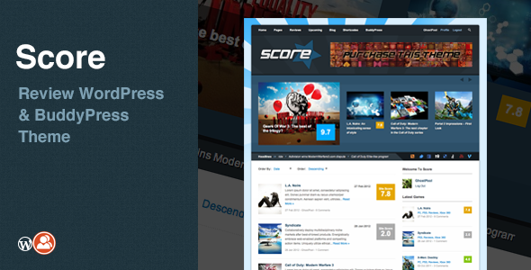 ThemeForest Score Review WordPress & BuddyPress Theme 703127