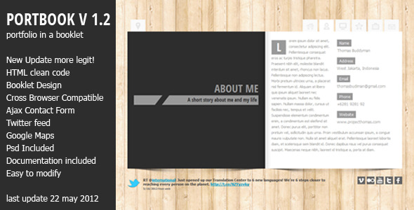 Portbook - Portfolio Booklet Template
