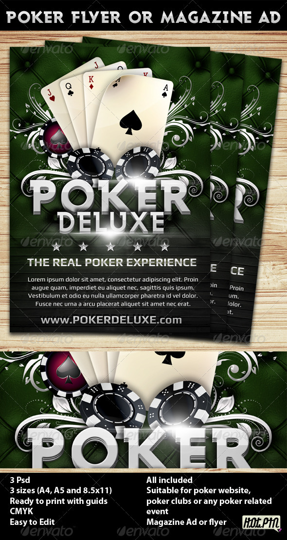 Poker Magazine Ad or flyer Template 4 - Flyers Print Templates