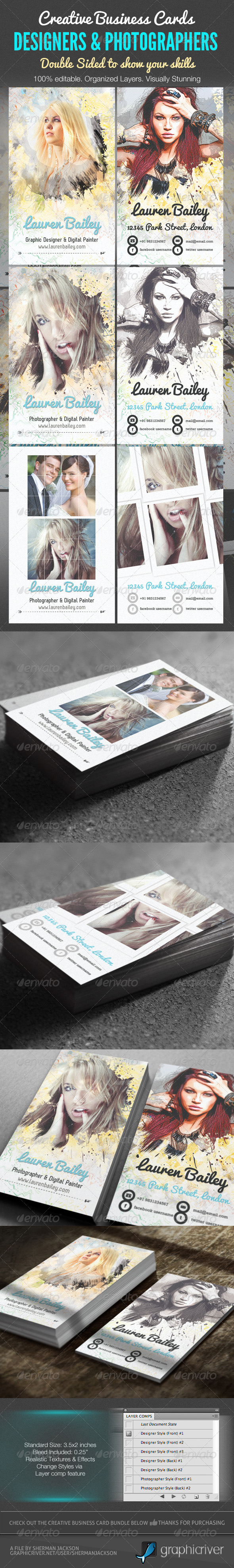 GraphicRiver Creative Business Cards Designer &Photographer 2048627